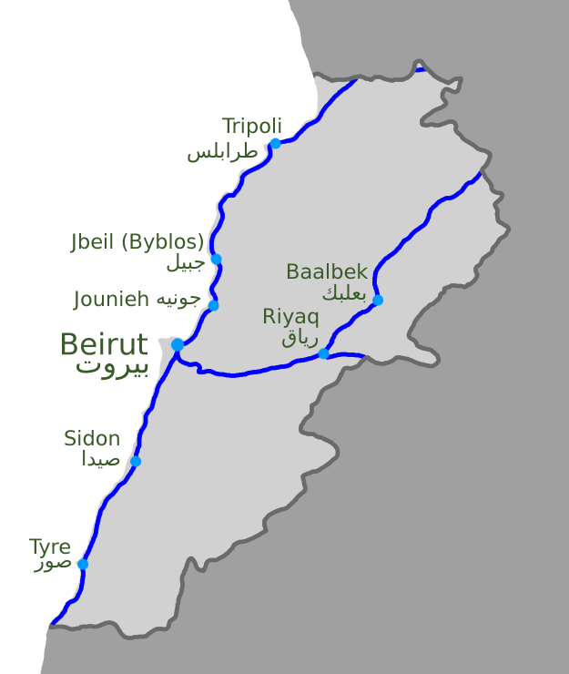 LebanonRailwayMap